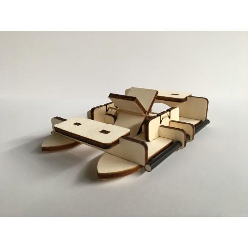 Raderboot -  bouwpakket